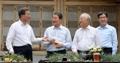 الرئيس مون يلتقي مع رؤساء الشركات العملاقة