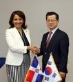 Vice-ministres coréen et dominicaine