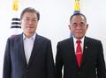 Moon et le ministre indonésien de la Défense