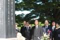 公明・山口代表 韓国人原爆犠牲者に献花