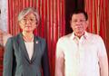 Avec le président philippin