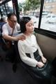ソウル市内のバスに「少女像」