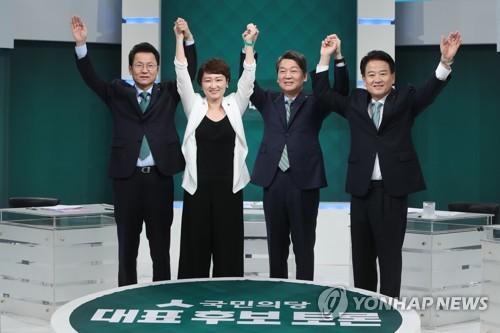 국민의당 당권주자들, 뜨거운 호남구애…햇볕정책 놓고 安 협공(종합)