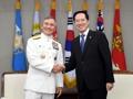 Reunión del ministro de Defensa con el líder del Comando del Pacífico de EE. UU.