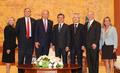 Moon avec des députés américains