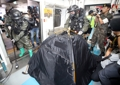 地下鉄で対テロ訓練