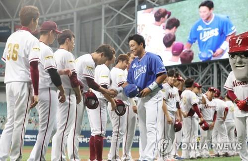 넥센 선수들, '36번' 유니폼 입고 전설 이승엽 기리다(종합)