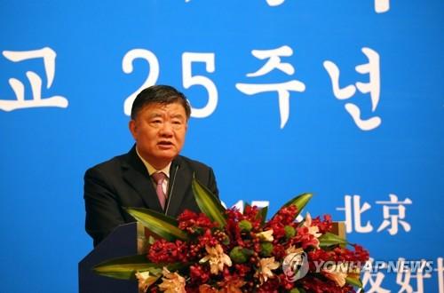 냉랭한 中주최 한중 25주년 리셉션…'반쪽짜리 행사'