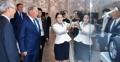 Président kazakh au pavillon coréen à Astana