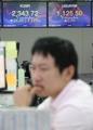 北ミサイル発射で株安・ウォン安