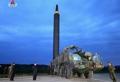 Kim Jong-un inspeccciona el lanzamiento de un misil