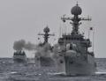 韓国海軍 東海で射撃訓練