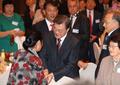 Avec des ressortissants coréens en Russie
