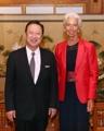Président de la KCCI et directrice générale du FMI