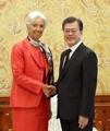 IMF専務理事と会談