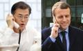 Moon conversa con el líder francés sobre Corea del Norte