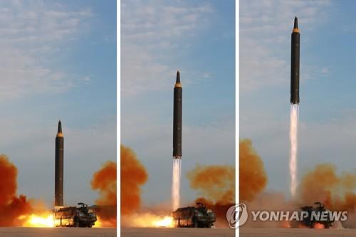 """北, IRBM 화성-12 전력화선언…김정은 """"핵무력완성 거의 종착점""""(종.."""