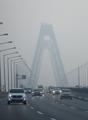 Niebla y polvo fino en Incheon