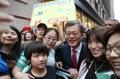 Avec des ressortissants coréens aux USA