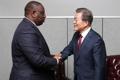 Moon y el presidente de Senegal
