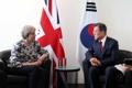 Moon Jae-in et Theresa May