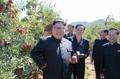 El líder norcoreano visita una granja de frutas