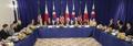 Leaders of S. Korea, U.S., Japan discuss North Korea