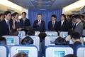 Dans l'avion présidentiel