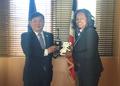 Avec la ministre française des Sports