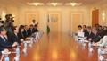 Président parlementaire avec le président du Sénat ouzbek
