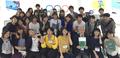Estudiantes japoneses visitan una exhibición sobre las Olimpiadas de PyeongChang
