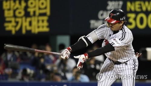 '7회 7점 폭발' LG, 넥센 꺾고 3위 도약