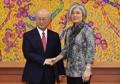 La canciller surcoreana se reúne con el jefe de la AIEA
