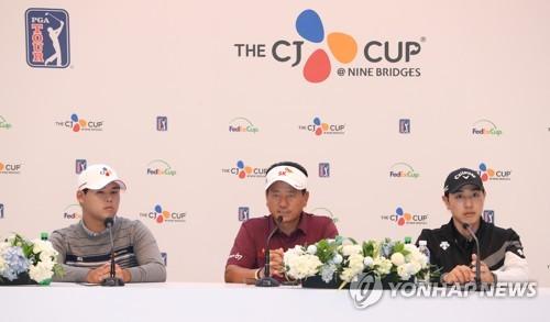 """최경주·배상문·김시우 """"고국에서 PGA 대회, 감개무량"""""""