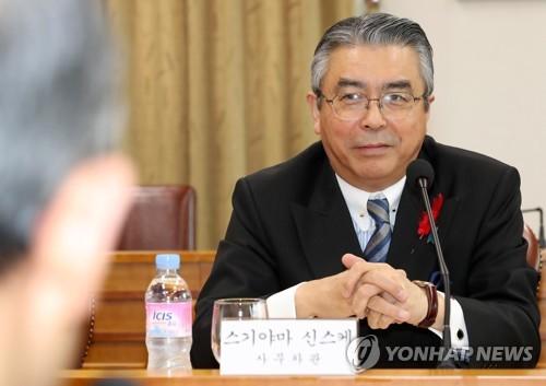 """日외교차관 """"한국에 '위안부합의 이행 지극히 중요' 입장 전달""""(종합)"""