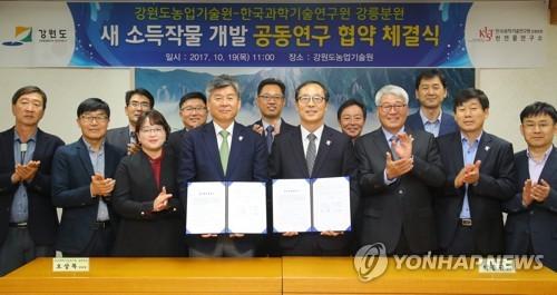새 소득작물 개발 기대…강원농기원-KIST 손잡아