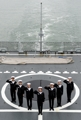 Girl group aboard warship