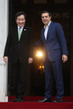 Primeros ministros de Seúl y Atenas