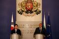 Conférence de presse conjointe Corée-Bulgarie