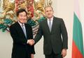 Le PM avec le président bulgare