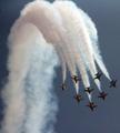 Espectáculo aéreo en Sacheon