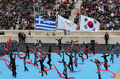 Evento cultural antes de la entrega de la antorcha olímpica
