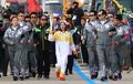 Début du relais de la torche olympique