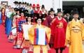 Desfile de ropa tradicional coreana