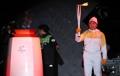 Avec la flamme olympique