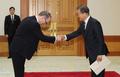 Moon et l'ambassadeur irlandais en Corée du Sud