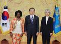 Moon et l'ambassadrice ghanéenne