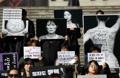 Manifestación sobre la abolición de la ley del aborto