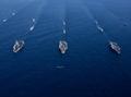 Portaaviones estadounidenses en el mar del Este