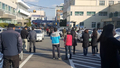 地震に驚く浦項市民